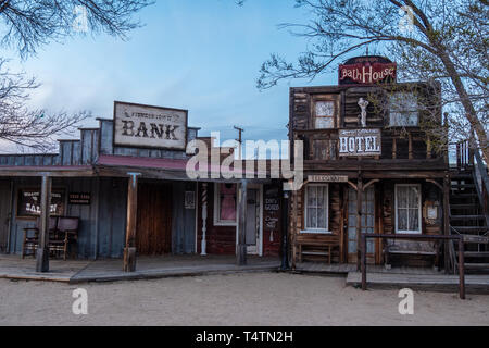 Pioneertown at the Morongo Basin in Calfornia - CALIFORNIA, USA - MARCH 18, 2019 - Stock Photo
