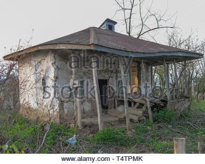 An old rural home in countryside, Iran, Gilan, Asia - Stock Photo