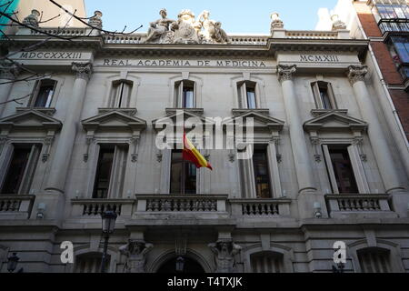 Royal Academy of Medicine, Madrid, Spain - Stock Photo