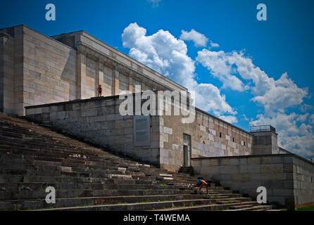 The remains of the Nazi rally squares at Nuremberg - Stock Photo