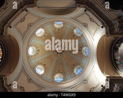 Milan, Italy: September 4, 2018: Dome of San Bernardino delle ossa ossuary, in Milan, Lombardy, italy - Stock Photo