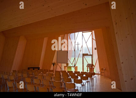 Temporary chapel for the Deaconesses of St-Loup - Stock Photo