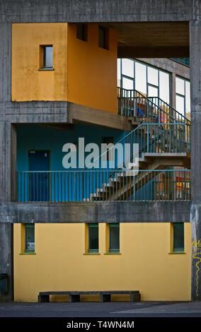 Modern School Building in Switzerland - Stock Photo