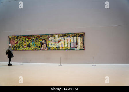 ARKEN Museum of Modern Art, 'The Walthamstow Tapestry' by Grayson Perry, 2009, Copenhagen, Denmark - Stock Photo