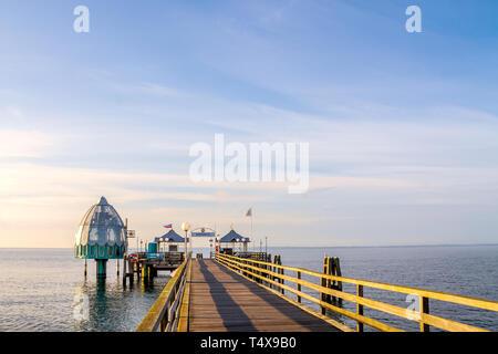 Seabridge in Groemitz, Germany - Stock Photo