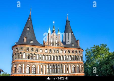 Holstentor in Lübeck, Germany - Stock Photo