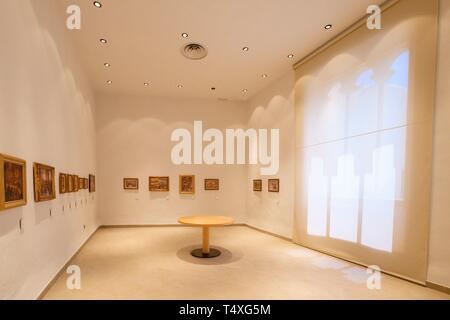 museo Puget, can Comasema, casa del siglo XV, Ibiza, balearic islands, Spain. - Stock Photo