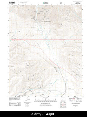 USGS TOPO Map Colorado CO Hesperus 20110610 TM Restoration - Stock Photo