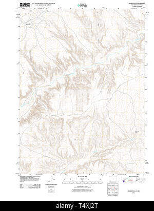 USGS TOPO Map Colorado CO Hiawatha 20110613 TM Restoration - Stock Photo