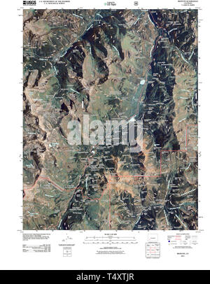 USGS TOPO Map Colorado CO Ironton 20110520 TM Restoration - Stock Photo