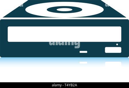 CD-ROM icon. Shadow reflection design. Vector illustration. - Stock Photo