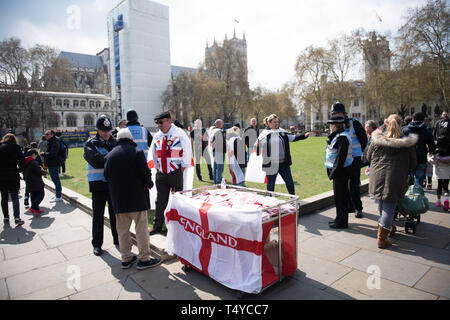 London, England 13th April 2019 - Leave Means Leave demonstration in Westminster Abbey. - Stock Photo