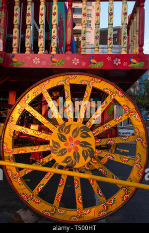 Durban, South Africa, 19th April 2019. Durban's 2019 Festival of Chariots da colourful and vibrant drawcard for devotees and tourists alike. Pictured  - Stock Photo