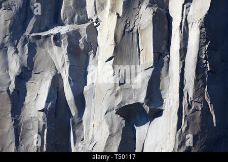 Granite Rockface, El Capitan, Yosemite, California, America. - Stock Photo