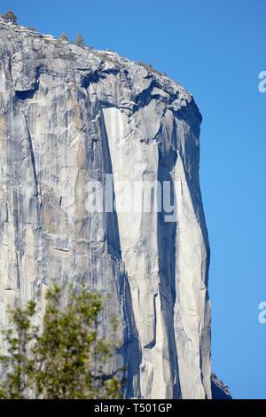 Granite Rockface, El Capitan, Yosemite, California, America. - Stock Photo