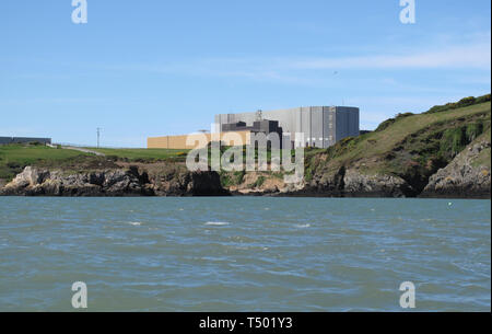 Wylfa Power Station, Anglesey, Wales, Britain. - Stock Photo