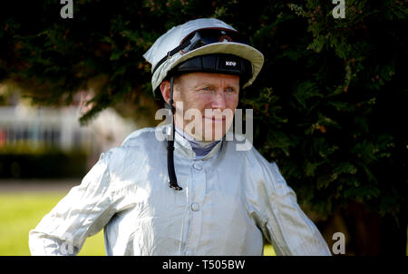 Joe Fanning, jockey during All Weather Championships Finals Day at Lingfield Park Racecourse. - Stock Photo
