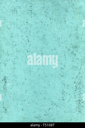 Abstract aqua background. Green background in grunge style with stains, scratches, fingerprints and multi-colored small dots. Paper texture - Stock Photo