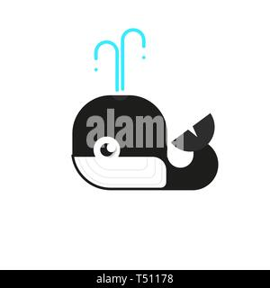 Logotype Whale, Logo Vector For Logistic, Delivery, Freedom, Consulting, Vector