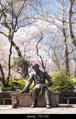 Hans Christian Anderson Statue is in Central Park, New York City, USA - Stock Photo