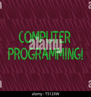 Conceptual hand writing showing Computer Programming. Concept meaning process that instructs a computer on how to do a task Seamless Isosceles Triangl - Stock Photo