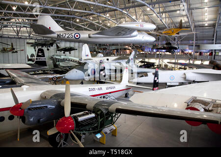 American Air Museum at Duxford Imperial War Museum,Cambridgeshire, England. - Stock Photo