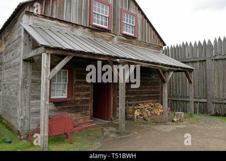 Kitchen, Fort Vancouver, Fort Vancouver National Historic Site, Vancouver, WA, USA - Stock Photo