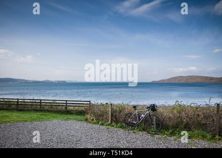 Ledaig, on the Oban to Fort William cycle route, west coast of Scotland. - Stock Photo