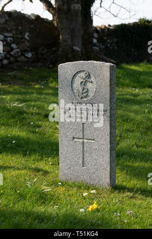Military graves in the public cemetery at Poolewe, Scotland. - Stock Photo