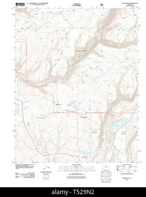 USGS TOPO Map Colorado CO Millwood 20110610 TM Restoration - Stock Photo
