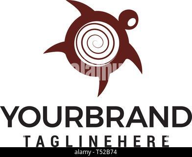 Turtle logo design concept template vector - Stock Photo