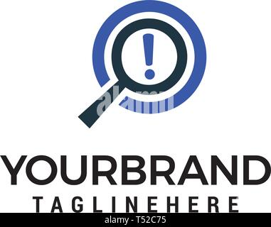 magnifer search logo design concept template vector - Stock Photo