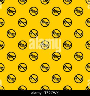 No horn traffic sign pattern vector - Stock Photo