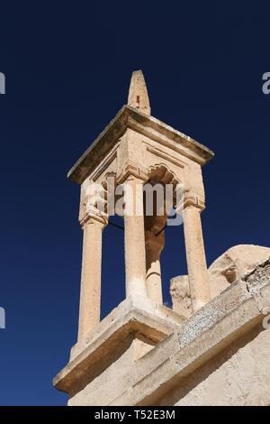 Zelve Mosque in Zelve Valley, Cappadocia, Nevsehir City, Turkey - Stock Photo