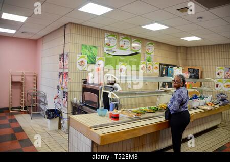 wood green crown court cafeteria haringey london UK - Stock Photo