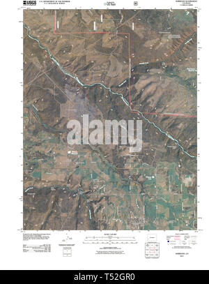 USGS TOPO Map Colorado CO Norwood 20110520 TM Restoration - Stock Photo