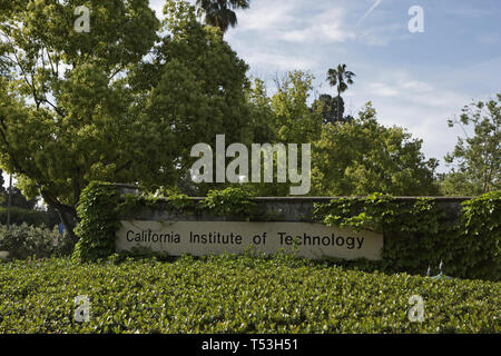 Caltech sign on campus, California, USA - Stock Photo