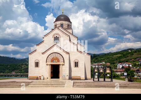 Orthodox Church of Saint Lazarus in Andrichgrad, Visegrad, Bosnia and Herzegovina - Stock Photo