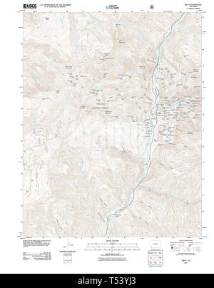 USGS TOPO Map Colorado CO Rico 20110610 TM Restoration - Stock Photo