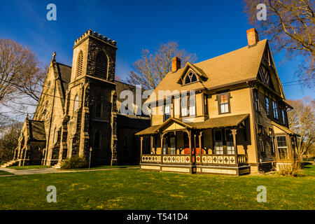 Grace Episcopal Church Old Saybrook South Green  Old Saybrook, Connecticut, USA - Stock Photo