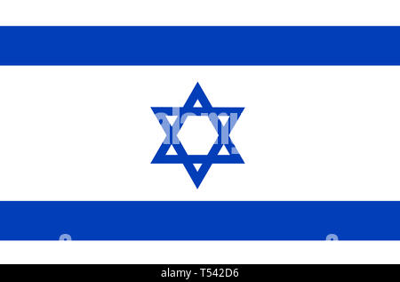 Bright background with flag of Israel. Independence Day of Israel background. Bright illustration with flag . - Stock Photo