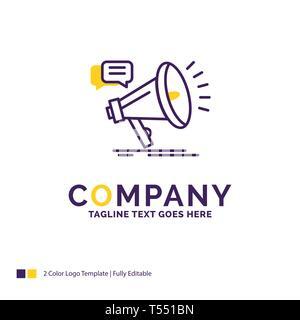 Company Name Logo Design For Bullhorn, digital, marketing, media