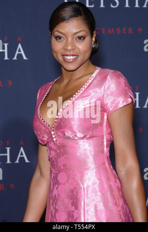 LOS ANGELES, CA. December 04, 2005: Actress TARAJI HENSON at the Los Angeles premiere of Memoirs of a Geisha. © 2005 Paul Smith / Featureflash - Stock Photo