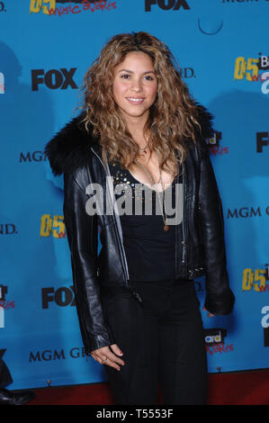 LAS VEGAS, NV. December 06, 2005: SHAKIRA at the 2005 Billboard Music Awards at the MGM Grand, Las Vegas. © Paul Smith / Featureflash - Stock Photo
