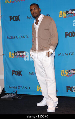 LAS VEGAS, NV. December 06, 2005: KANYE WEST at the 2005 Billboard Music Awards at the MGM Grand, Las Vegas. © Paul Smith / Featureflash - Stock Photo