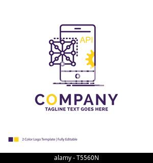 Company Name Logo Design For Api App Coding Developer Software