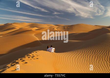 UAE, Abu Dhabi Province, Liwa Oasis, Rub Al Khali desert (Empty Quarter) MR - Stock Photo