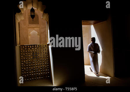 Jabreen or Jibreen Castel. A 17th Century Omani fort near Bahla in Al Dakhiyah governorate Oman.