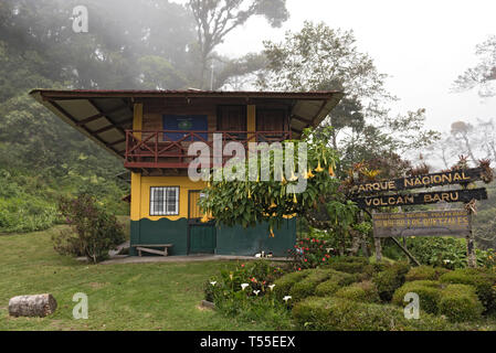 Ranger station of the Volcan Baru National Park at Boquete Panama - Stock Photo