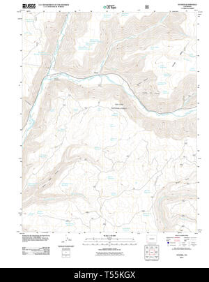 USGS TOPO Map Colorado CO Stoner 20110610 TM Restoration - Stock Photo